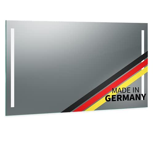Spiegel ID Biella Design: LED BADSPIEGEL mit Beleuchtung - jetzt konfigurieren - Made in Germany - Auswahl: (Breite) 60 cm x (Höhe) 50 cm - Modell: 2203502 - LED Lichtfarbe: warmweiß