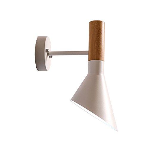 Vast leeslamp, industriële stijl, wit, energiebesparend, ijzer, wand, leeslamp, trap, nachtlampje, voor slaapkamer, 15,5 cm x 30 cm, 222