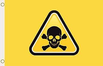 U24 vlag vaandel doodskop Danger geel 90 x 150 cm