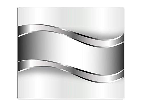 Herdabdeckplatte Schneidebrett Spritzschutz aus Glas, Multi-Talent HA44866304 Abstrakt Grau Variante Einteilig (1 Panel)