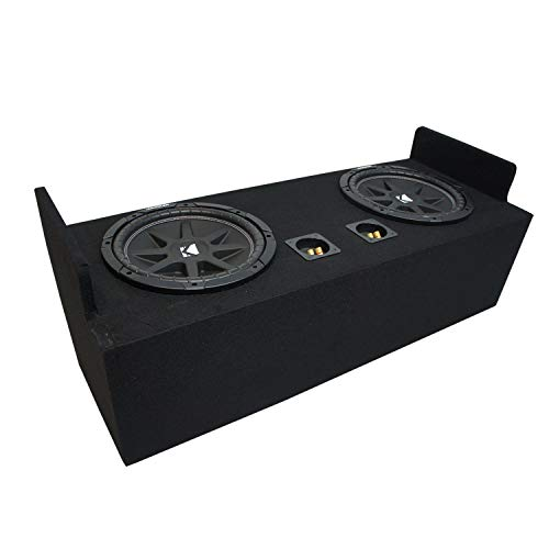 """Compatible with 1982-2004 Chevy S-10 Extended Cab Truck Kicker Comp C12 Dual 12"""" Sub Box Enclosure - Final 2 Ohm"""