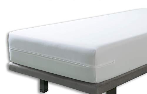 Velfont – Anti-Wanzen-Matratzenbezug mit Reißverschluss, wasserdicht und atmungsaktiv Matratzenüberzug | Antiallergisch, gegen Milben Matratzenschoner – 140 x 200 cm – Matratzenhöhe 30cm
