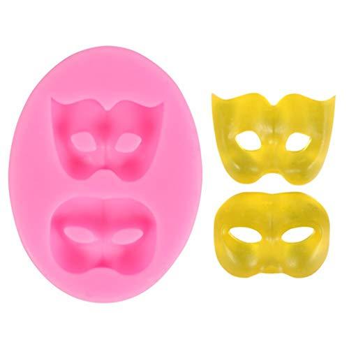 ZJL220 Moldes de silicona para fondant, chocolate, polímero y arcilla, para decoración de cupcakes, la máscara