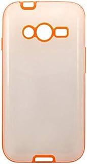 حافظة خلفي سامسونج جالاكسي ايس 4 LTE G313 - شفاف وبرتقالي