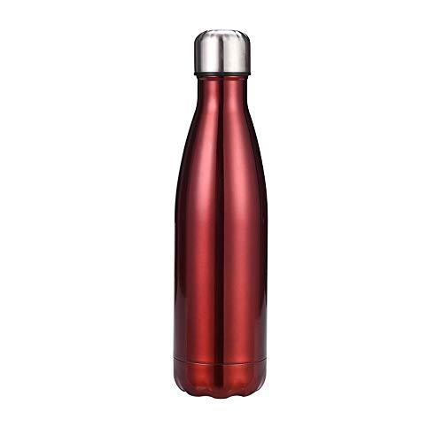 Chilly's Bottles, botella de agua de acero inoxidable de doble capa a prueba de fugas, botella de coca de coca reutilizable, botella deportiva de enfriamiento, para mujeres y hombres, 12,500 ml