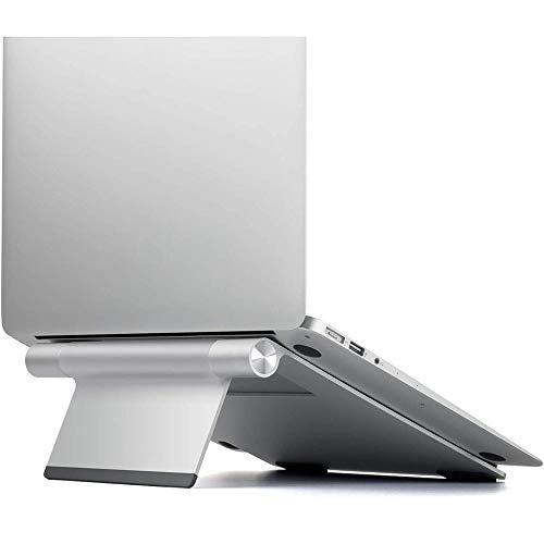 VIVOCFan Draagbare Laptop Stand, Aluminium Laptop Riser Houder, Ergonomische vouwen Laptop Tafel, Hoogte Verstelbare Computer Riser Houder Voor 10 tot 17 Inch 24x24x2.4cm(9x9x1inch) ZILVER
