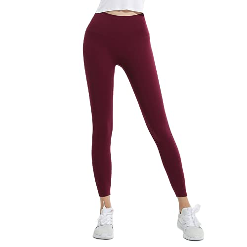 QTJY Nude Ladies Stretch Slim Soft Yoga Pants Pantalones de chándal de Gimnasio para Mujeres Pantalones de Fitness de Levantamiento de glúteos de Cintura Alta D S