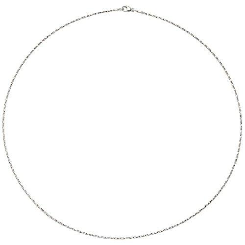 JOBO Damen-Halsreif aus 750 Weißgold diamantiert 42 cm 1,0 mm