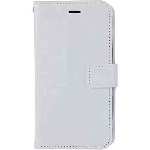 Étui Vivo NexS - Couleur pure - Portefeuille avec emplacements pour cartes et billets - Polyuréthane thermoplastique souple et cuir synthétique - Blanc