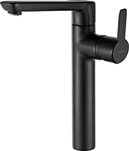 Deante Arnika Nero - Grifo para lavabo (conexión clic-clac, batería de color negro)