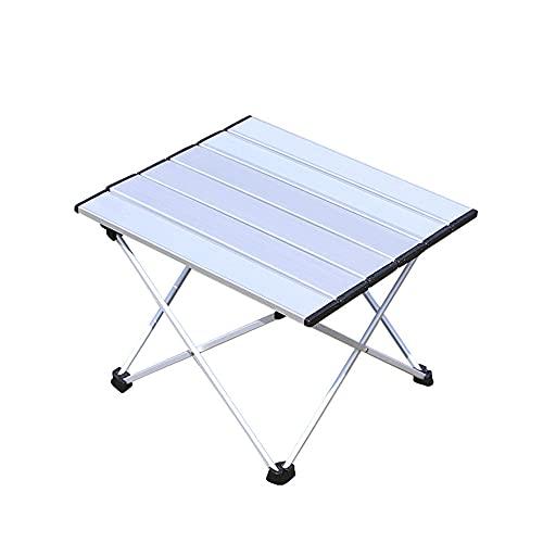 Grevosea Mesa plegable para camping, mesa plegable para camping, barbacoa, exterior, senderismo, portátil, desmontable, aleación de aluminio fuerte