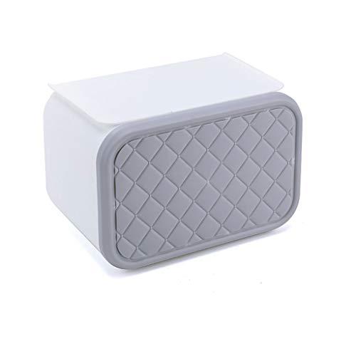 Afairy Tenedor de Papel de Papel higiénico, Soporte de la Caja de Toallas de Papel, Soporte de Papel higiénico montado en la Pared, para baño, Cocina (Color : Gray)