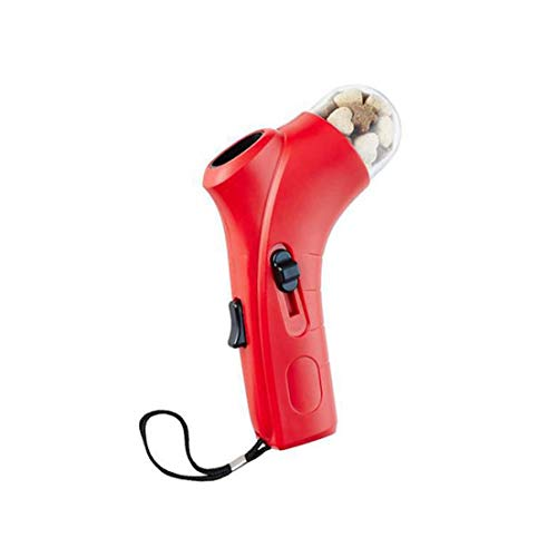Snack and Feed Launcher Toy for Dogs and Cats - Red