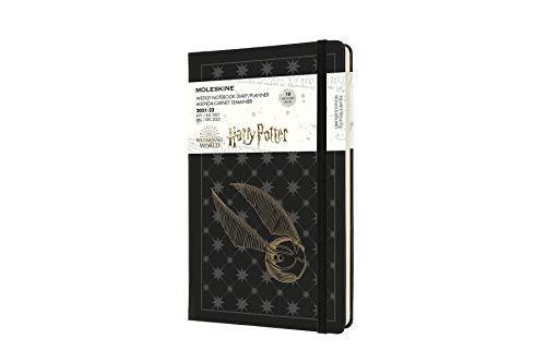 Moleskine - Agenda semanal (de Harry Potter, grande 13 x 21 cm), color Negro