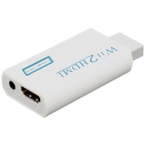 Wii a HDMI Converter Adaptador de Conversor de Video Wii HDMI Full HD de 720p o 1080p / Salida de Audio de 3,5mm