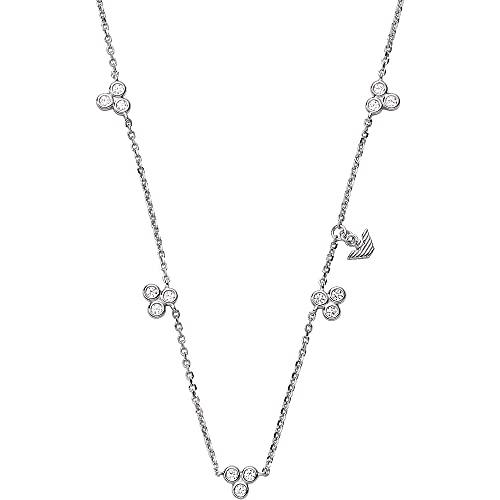 Emporio Armani EG3482040 - Collar para mujer de plata 925 con circonitas blancas, 42 cm