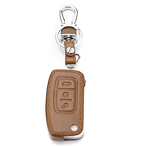 Funda de Cuero Inteligente para Llave de Coche, Compatible con Ford Mondeo Mk4 Fiesta Mk7 S-MAX Fiesta Focus Ecosport Kuga, Carcasa de Llave de Coche ABS