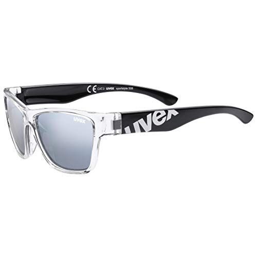 uvex Unisex Jugend, sportstyle 508 Sonnenbrille, black clear, one size