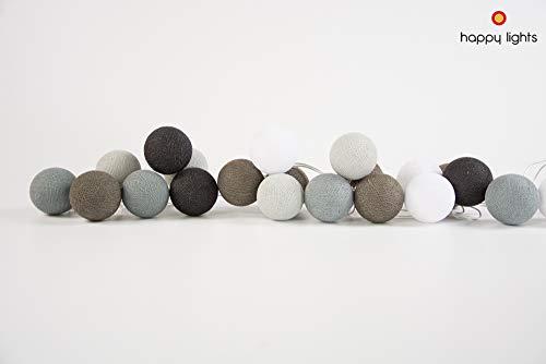 LENGAI (20) - Kleurrijke slinger - Cotton Balls slinger - Decoratie voor de kinderkamer - balslinger voor bruiloften en jubilea - Veilig gebruik met LED - woonaccessoires van HappyLights