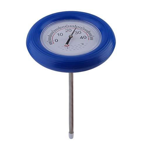 Piscina para bebés Termómetro de Agua Flotante Instrumento de medición Termómetro de Piscina Panel de visualización de Temperatura Flotante - Azul + Blanco