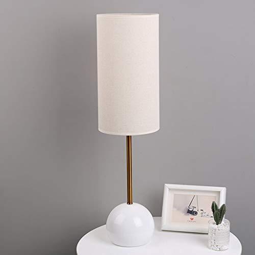 Lámpara de mesita de noche Tipo de tabla del tacto de la lámpara retro escandinava dormitorio lámpara de cabecera 22 pulgadas Sala de estar de alta lámpara de mesa interruptor de botón lámpara decorat