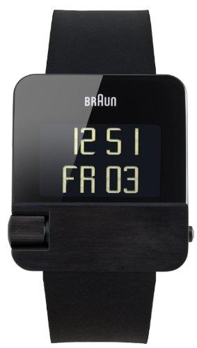Braun BN0106 - Reloj (Reloj de Pulsera, Acero Inoxidable, Negro, Caucho, Negro, Rectángulo)
