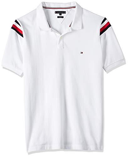 Tommy Hilfiger Herren Shoulder Gs Insert Slim Polo Poloshirt, White, M