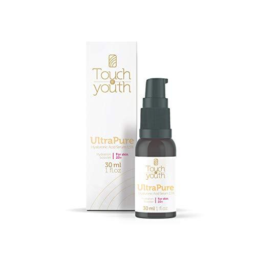 Touch of Youth UltraPure Hyaluronsäure Serum, 30 ml I1,5% HA I hochkonzentriert I Natürliches Hyaluron Anti-Aging gegen Falten I Ideale Pflege für Gesicht, Hals und Dekolleté I Feuchtigkeitsspender