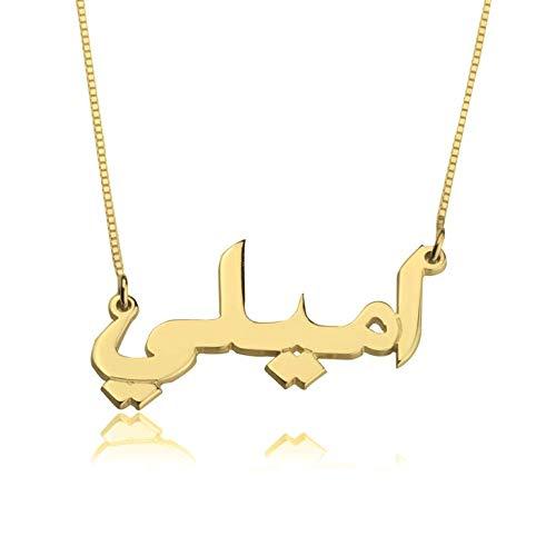 Antiquestreet Girl's Non-Precious Metal Arabic writing necklace
