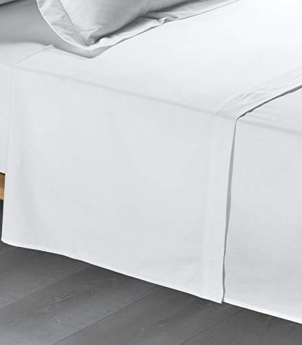 Promo Linge Drap Plat Percale 240 X 300cm - Gris Clair (Blanc)