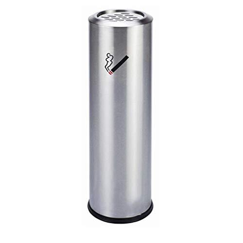 YAYA asbak ronde metalen pan asbak met binnenemmer buiten hotel restaurant tuin RVS asbak vuilnisbak sigaret asbak