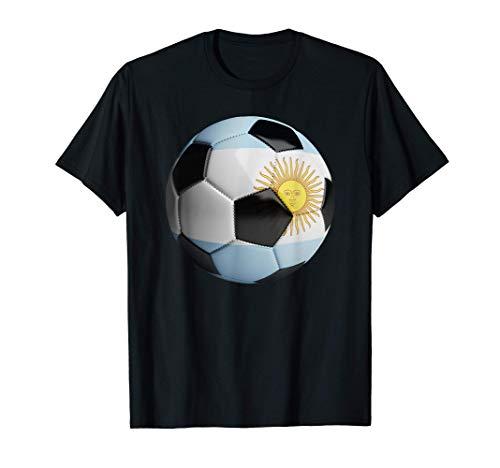 Pelota de fútbol de la bandera de Argentina Camiseta