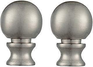 Dysmio Ball Lamp Finial - 2-Pack (Brushed Nickel)