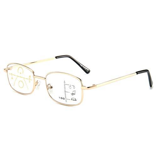 Progressieve Multi-focus Afstand Leesbril Voor Tweeërlei Gebruik Mannen En Vrouwen Opvouwbare Draagbare Slimme Zoom Anti-blauw Licht Leesbril Kristalheldere Visie Wanneer U Het Nodig Hebt!