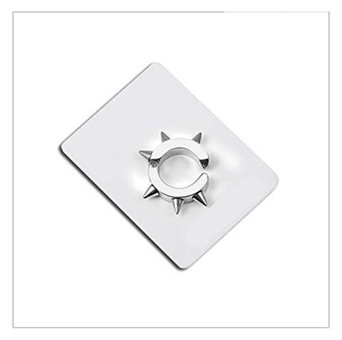 LZZR Conical ring spike earrings (Color : Silver, Size : 1 Pair)