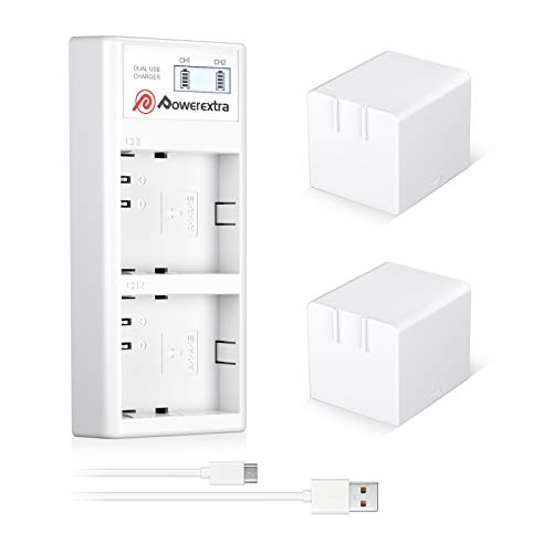 Powerextra 2 x Upgraded Rechargeable Battery Compatible with Arlo Pro Arlo Pro 2 and Dual Quick Charger for Arlo Pro Arlo Pro 2 Arlo Go and Arlo Security Light Batteries