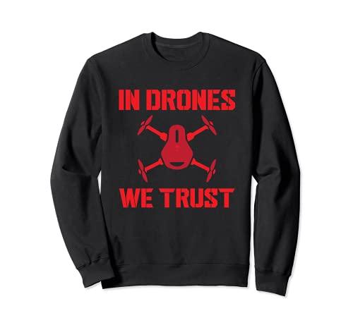 En Drones confiamos en el divertido diseño de vuelo de piloto de drones Sudadera
