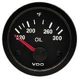 VDO 310106 Vision Style Electrical Oil Temperature Gauge 2 1/16' Diameter, 300F