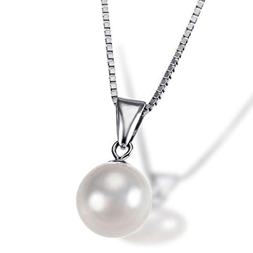Goldmaid Damen-Halskette Pearls 585 Weißgold 1 Akoya Perle Kettenanhänger Schmuck