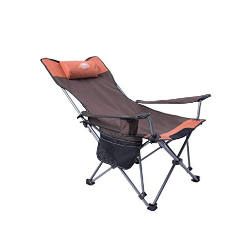 Sillas plegable para camping, ultraligera, con reposabrazos, soporte para vasos y bolsa de transporte y almacenamiento sillas plegables (color marrón ZJ666 (color marrón)