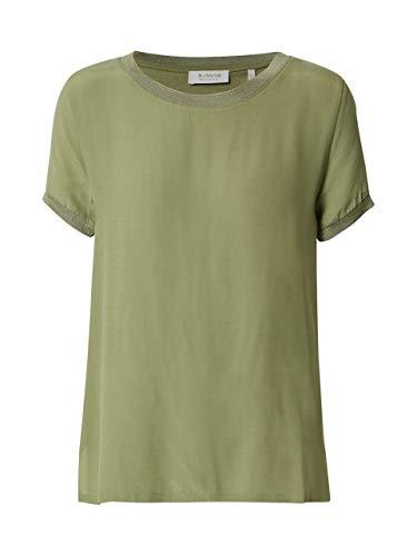 rich&royal Damen T-Shirt, Grün (Safari Green 454), Large (Herstellergröße: L)