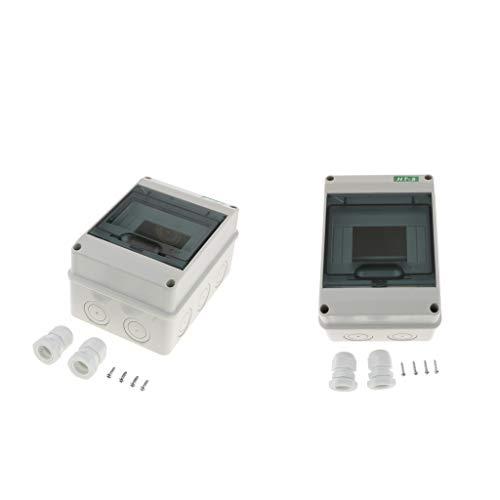 oshhni Caja de Distribución de Plástico de 2 Piezas para Interruptores Automáticos en Interiores