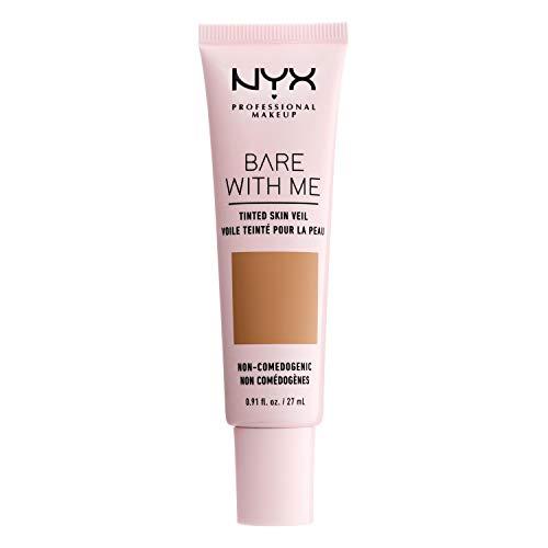 NYX Professional Makeup Bare With Me Tinted Skin Veil, BB-Creme, Feuchtigkeitsspendendes Aloe- und Gurkenextrakt, Von Hautpflege inspiriert, Leichte Abdeckung, Farbton: Golden Camel
