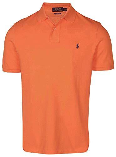 Polo Ralph Lauren, Herren, maßgeschneidertes Slim-Fit-Poloshirt aus Piqué - Orange - Mittel