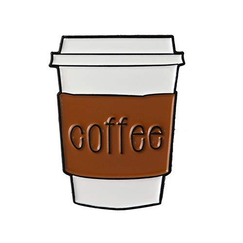 BQZB brosche Einfache Kaffee Weiche Emaille Broschen Braun Kaffeetasse Button Pins für Kleidung Abzeichen Cartoon Modeschmuck Geschenk für Freunde