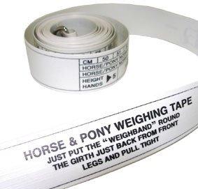 William Hunter Equestrian Pferd & Pony Höhe und Gewichtsband–Umfang in cm, Gewicht in Pfund/kg, Höhe in Händen
