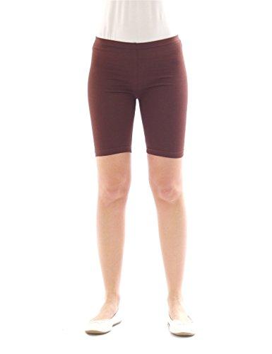 yeset Kinder Shorts Sport Pants Sportshorts Kurze Leggings aus Baumwolle Jungen Mädchen braun 158