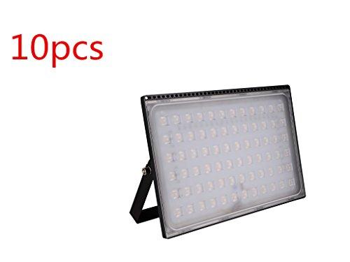 Yuanline Projecteur LED Extérieur 500W Spot ultra-mince Blanc Chaud Blanc Froid Phare Intérieur et Extérieur Imperméable IP67 pour Jardin Cour Terrasse Square Usine (Blanc Chaud 500W, 10)