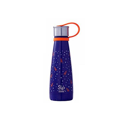 S'ip by S'well Isolierte Edelstahl-Wasserflasche, 295mL, Rocket Power