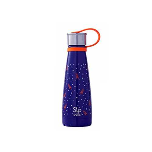 S'ip by S'well 200110404 Stainless Steel Bottle, 10oz, Rocket Power